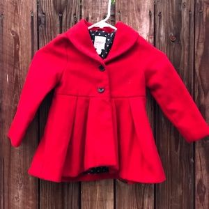 Cat & a Jack red Coat for girls